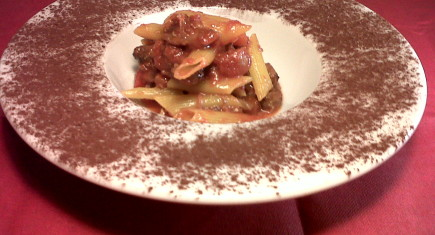 ox-tail and cocoa pasta